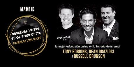 TONY ROBBINS, DEAN GRAZIOSI & RUSSELL BRUNSON (Madrid) entradas