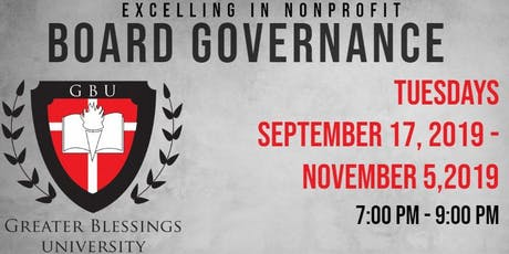 Excelling in Nonprofit Board Governance tickets