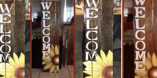 Sunflower Welcome Porch Sign