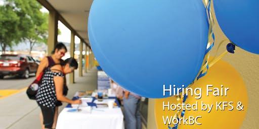 Hiring Fair hosted by WorkBC & Ki-Low-Na Friendship Society
