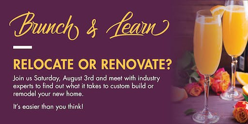 Relocate OR Renovate? Home Brunch & Learn