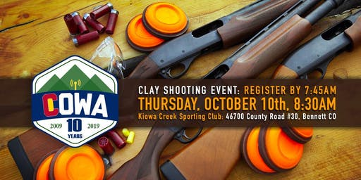3rd Annual COWA Clay Shooting Challenge