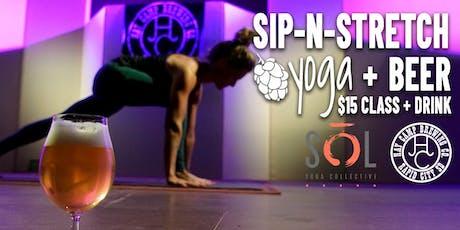 Sip-N-Stretch Yoga, December tickets