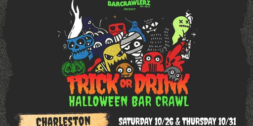 Trick or Drink: Charleston Halloween Bar Crawl (2 Days)