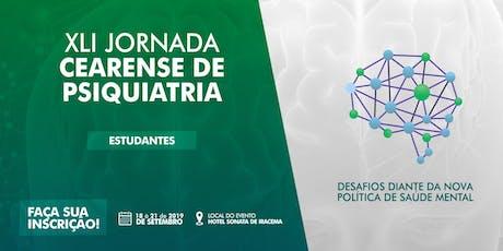 XLI Jornada Cearense de Psiquiatria - Estudantes ingressos