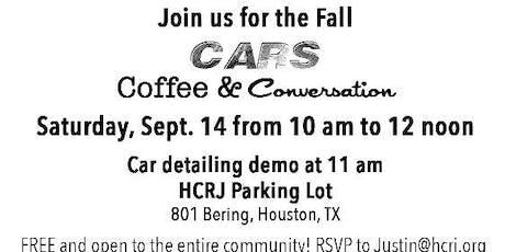 Cars, Coffee & Conversation tickets