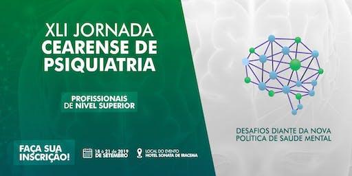 XLI Jornada Cearense de Psiquiatria - Profissionais de Nível Superior
