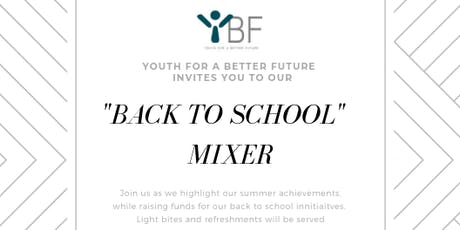 BACK TO SCHOOL MIXER tickets