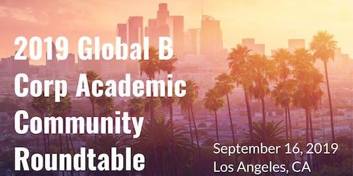 2019 Global B Corp Academic Roundtable