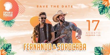 Fernando e Sorocaba 17/08 - Café de La Musique Floripa ingressos