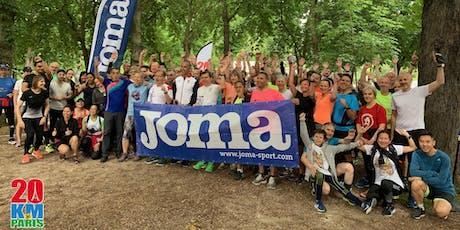 Entrainement n°10 des 20km de Paris by Joma - Rose tickets