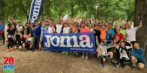 Entrainement n°10 des 20km de Paris by Joma - Rose