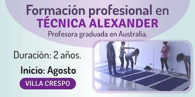Formación profesional en Técnica Alexander.
