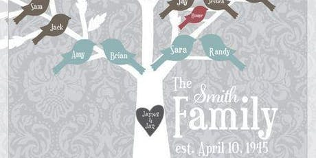 Paint a family tree - Perfect gift for Grandparents or a wedding! - BYOB tickets