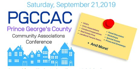 Prince George's County Community Association Conference 2019 tickets
