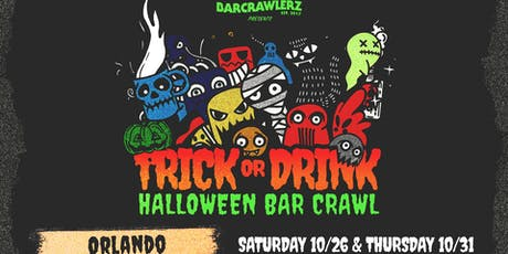 Trick or Drink: Orlando Halloween Bar Crawl (2 Days) tickets