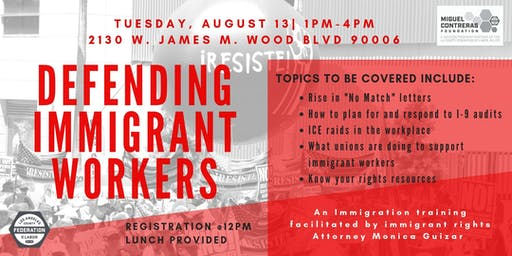 Training: Defending Immigrant Workers