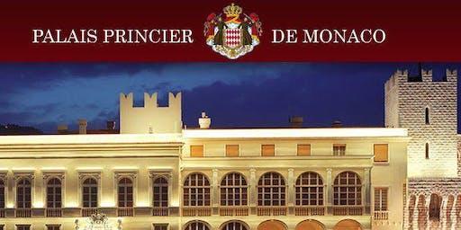 PALAIS PRINCIER MONACO CONCERT Orchestre Philarmonique dans la COUR D'HONNEUR et DINER