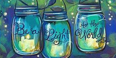 Fireflies & Mason Jars - Adult Acrylic Painting Class - Kannapolis