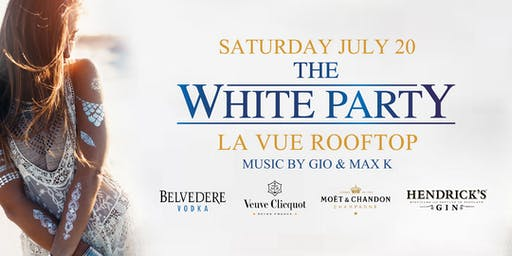 WHITE PARTY at LA VUE ROOFTOP // FREE w RSVP // DRESS CODE: WHITE
