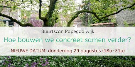 Buurtscan Papegaaiwijk - 3de sessie: Hoe bouwen we concreet samen verder? billets