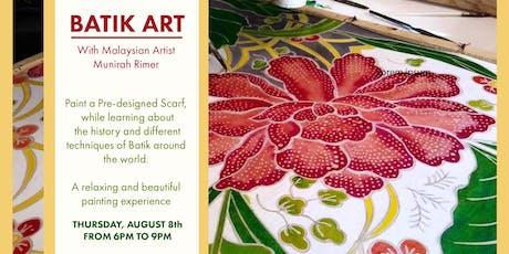Batik Art with Munirah Rimer  tickets