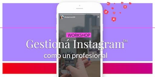 Workshop Gestioná Instagram como un profesional