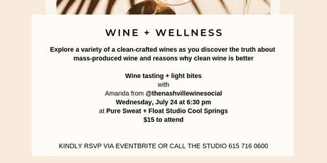 Wine + Wellness with Scout + Cellar tickets