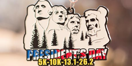 Now Only $12! 2019 President's Day 5K, 10K, 13.1, 26.2 -El Paso tickets