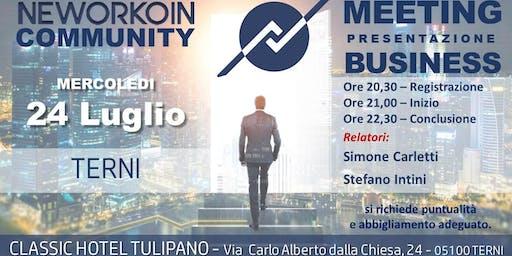 Presentazione Business Meeting - NEWORKOIN - Terni
