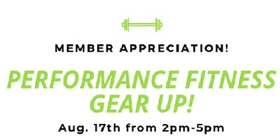 Performance Fitness Gear Up Shopping Event