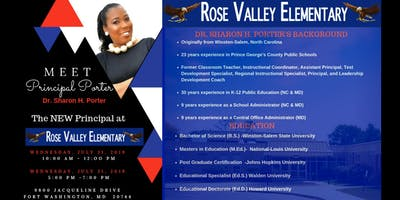 Rose Valley Elementary New Principal Meet and Greet