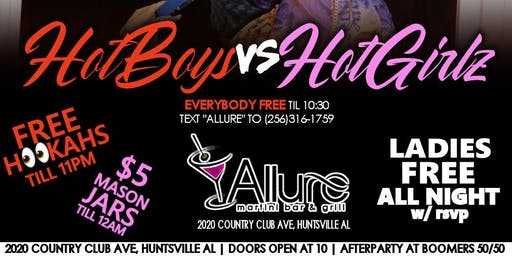 "FREE TICKETS to ""HOTBOYS VS HOTGIRLS"" THIS FRIDAY @ ALLURE (JULY.19TH)"