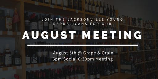 JYR August Meeting: Senator Aaron Bean!