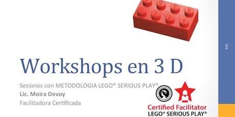 """Workshop 3D """"Innovar con LEGO® SERIOUS PLAY® """" Septiembre  entradas"""