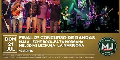 FINAL CONCURSO DE BANDAS MJ LIVE entradas