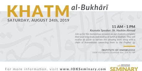 Khatm al-Bukhari tickets