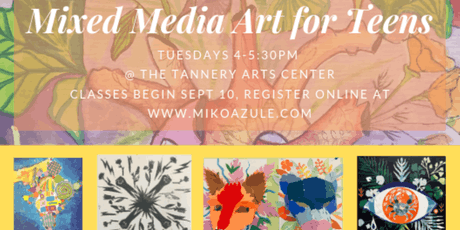 Mixed Media Art for Teens, September Tuition tickets