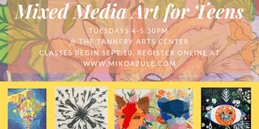 Mixed Media Art for Teens, September Tuition