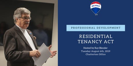 Professional Development - Residential Tenancy Act tickets