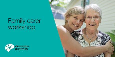 Family carer workshop - Strathalbyn - SA tickets