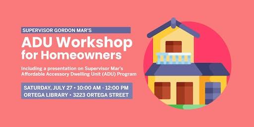 ADU Workshop for Homeowners