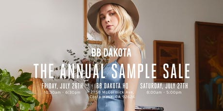 BB DAKOTA'S Annual Sample Sale tickets