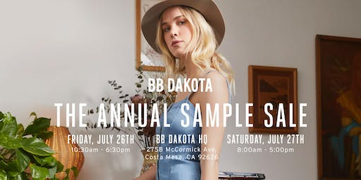 BB DAKOTA'S Annual Sample Sale