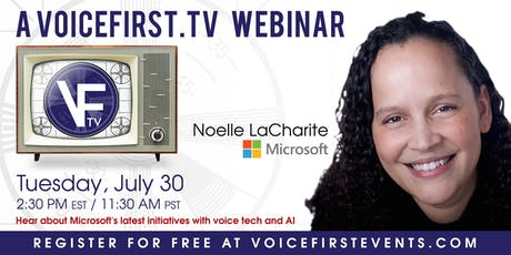 #VoiceFirst Webinar: Microsoft's latest initiatives in voice tech and AI tickets