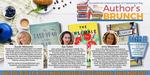 7th Annual Authors Brunch- Soroptimist International of Capistrano Bay