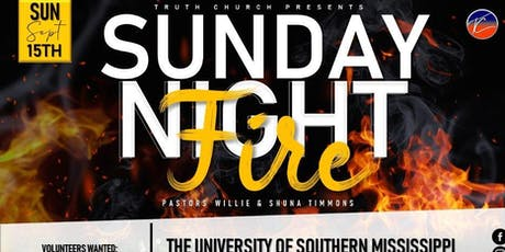 Sunday Night Fire tickets
