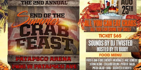 END OF THE SUMMER CRAB FEAST tickets