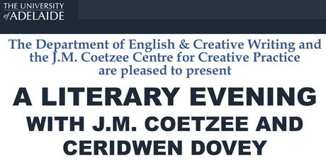 A Literary Evening with J.M. Coetzee and Ceridwen Dovey tickets