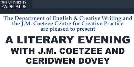 A Literary Evening with J.M. Coetzee and Ceridwen Dovey